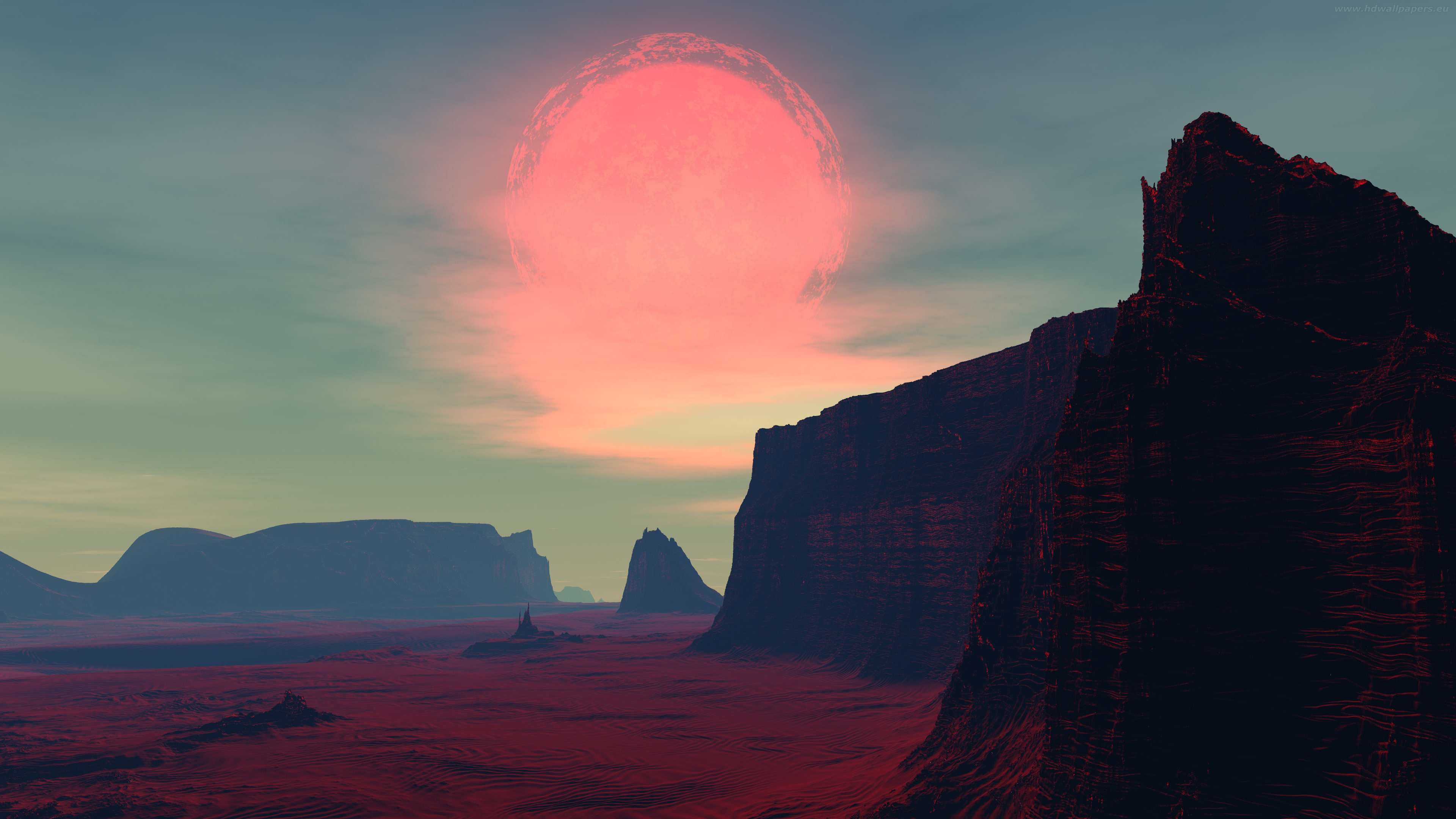 red-sun-planet-maximumshadow 3840x2160